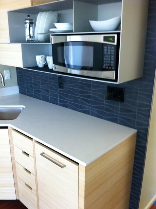 using modern kitchen materials in a single wide