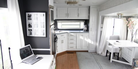 Modern Camper Kitchen Makeover