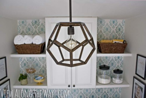 geometric light pendant - DIY lights you can create