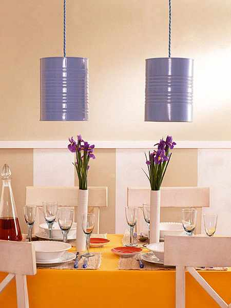 tin can light pendants