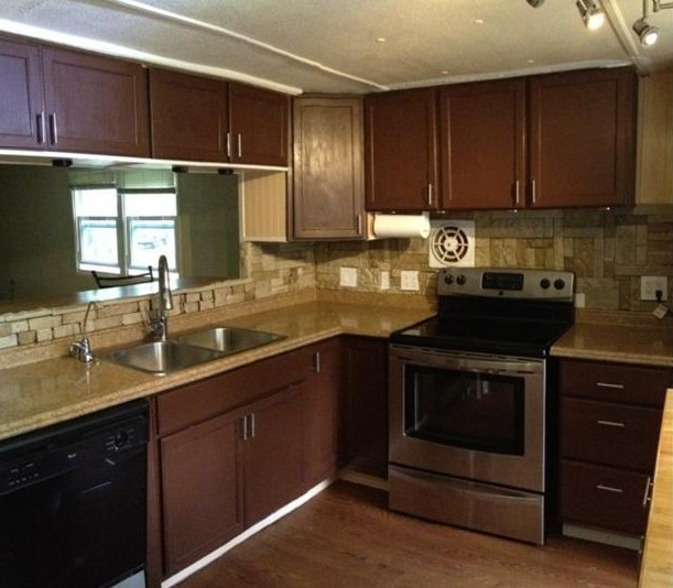 1973 pmc mobile home remodel for Mobile home kitchen ideas