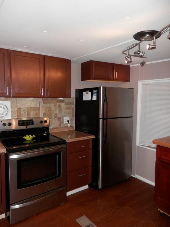 mobile home remodel - kitchen