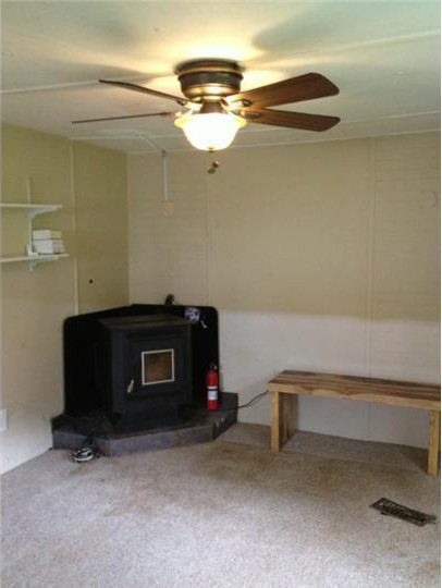 living room before mobile home remodel