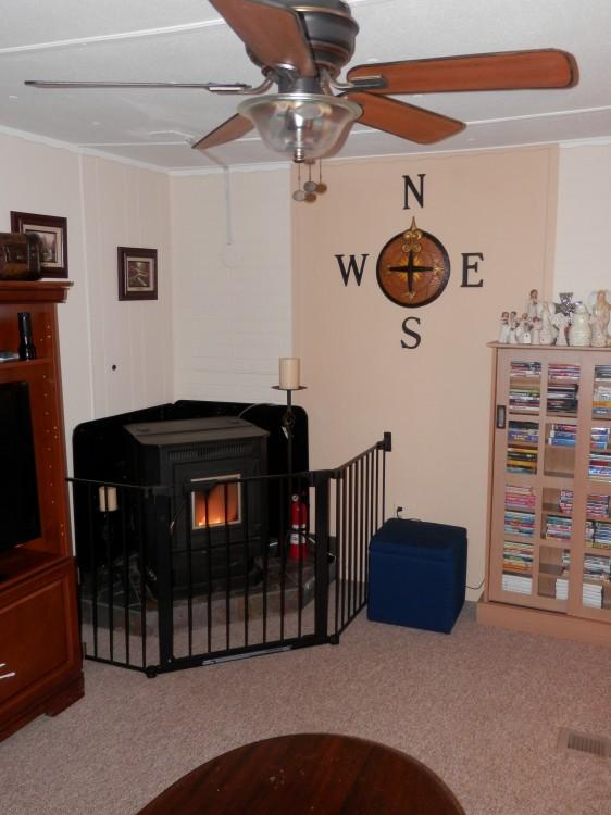 living room after mobile home remodel