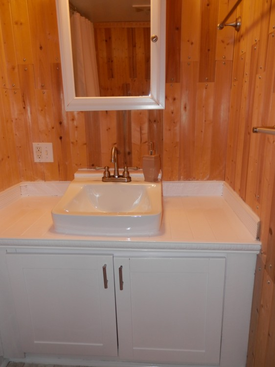 bathroom after mobile home remodel