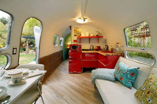 Airstream Interiors - ruby red appliances