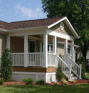 Attractive 45 Great Manufactured Home Porch Designs