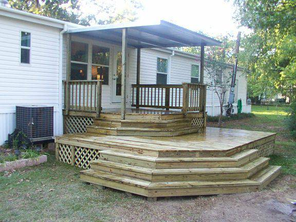 manufactured home porch designs-10 manufactured home decking and porch ideas