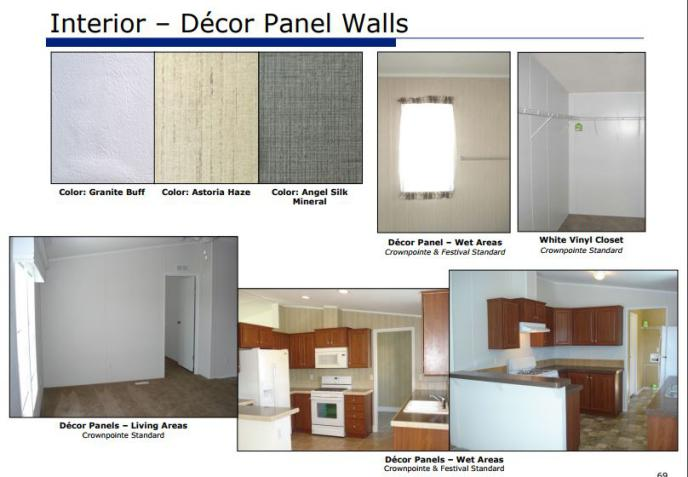 smart upgrades to make when buying a new manufactured home - (decor panel wall options in 2015 from Fleetwood Manufactured Homes)