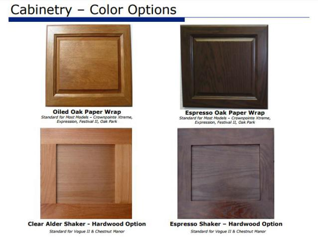 Smart upgrades to make when buying a new manufactured home  - (the cabinet upgrades from the 2015 fleetwood options book