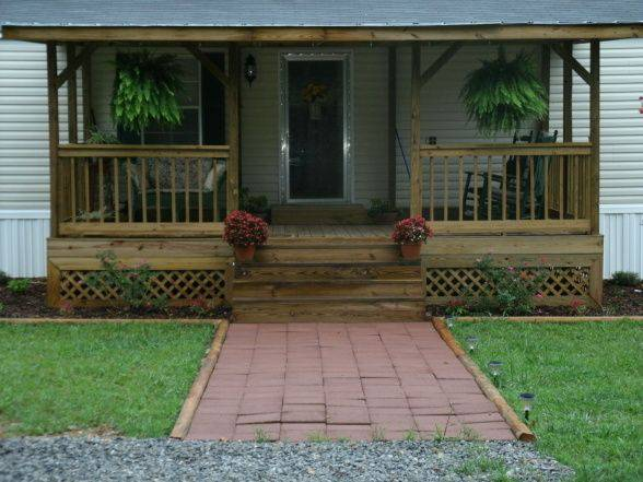 manufactured home porch designs-11 single wide manufactured home porch ideas