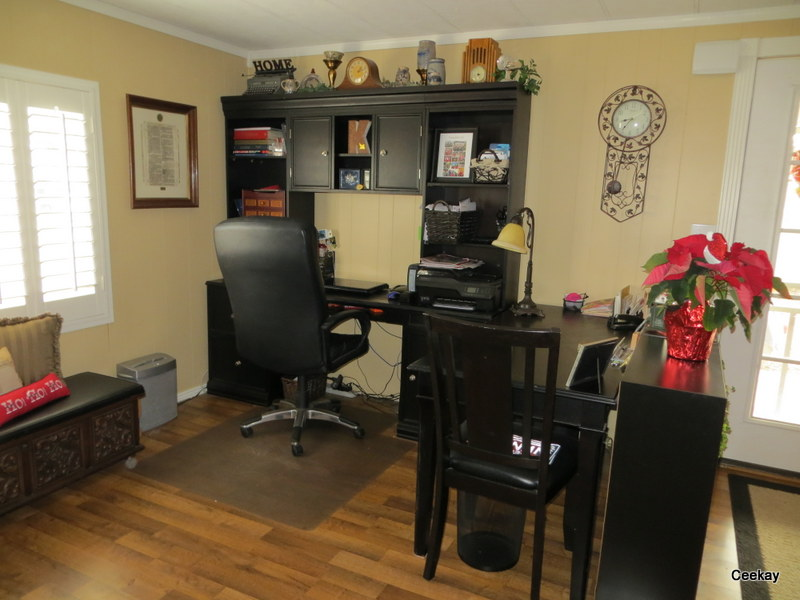 Home Office in manufactured home