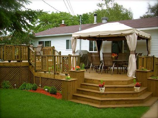 manufactured home porch designs-17 manufactured home decking idea