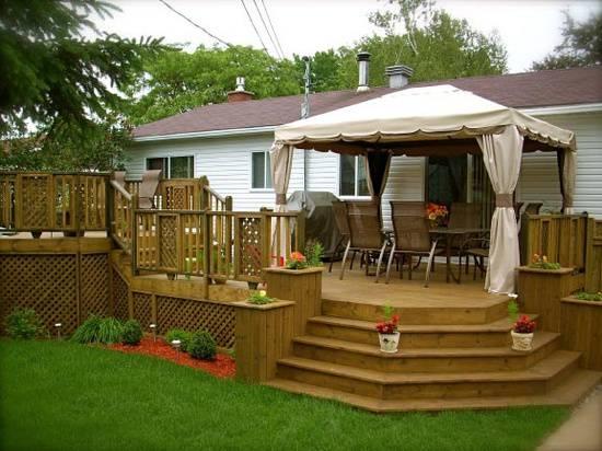 manufactured home porch designs-17 manufactured home decking idea