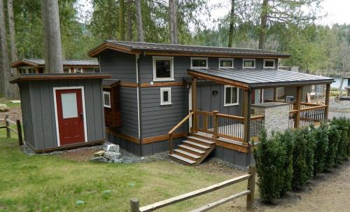 manufactured home porch designs-18 Park Model Manufactured Home Porch Inspiration