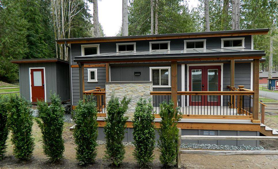 Exterior Ideas For Homes Part - 44: 18a Park Model Manufactured Home Porch Inspiration