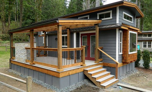 45 Great Manufactured Home Porch Designs on rustic log cabin deck
