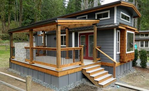 manufactured home porch designs-18b Park Model Manufactured Home Porch Inspiration