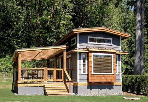 18e  Park Model Manufactured Home Porch Inspiration