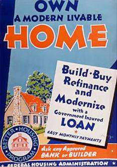 1930s FHA poster - National Building Museum