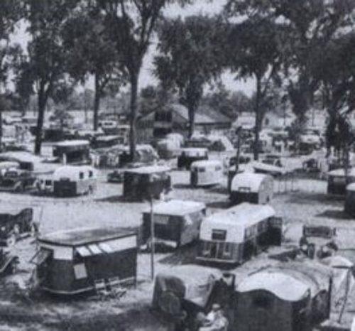 1930s trailer park - vintage trailers