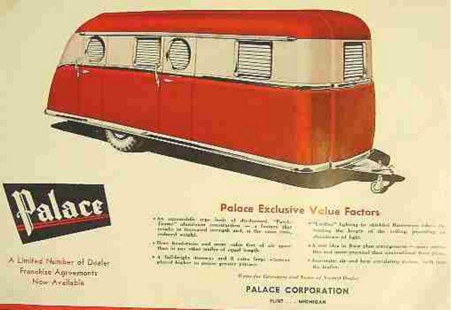 1947 Palace vintage trailer ad