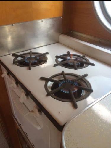 1953 Airfloat Navigator - Vintage Campers (original stove)