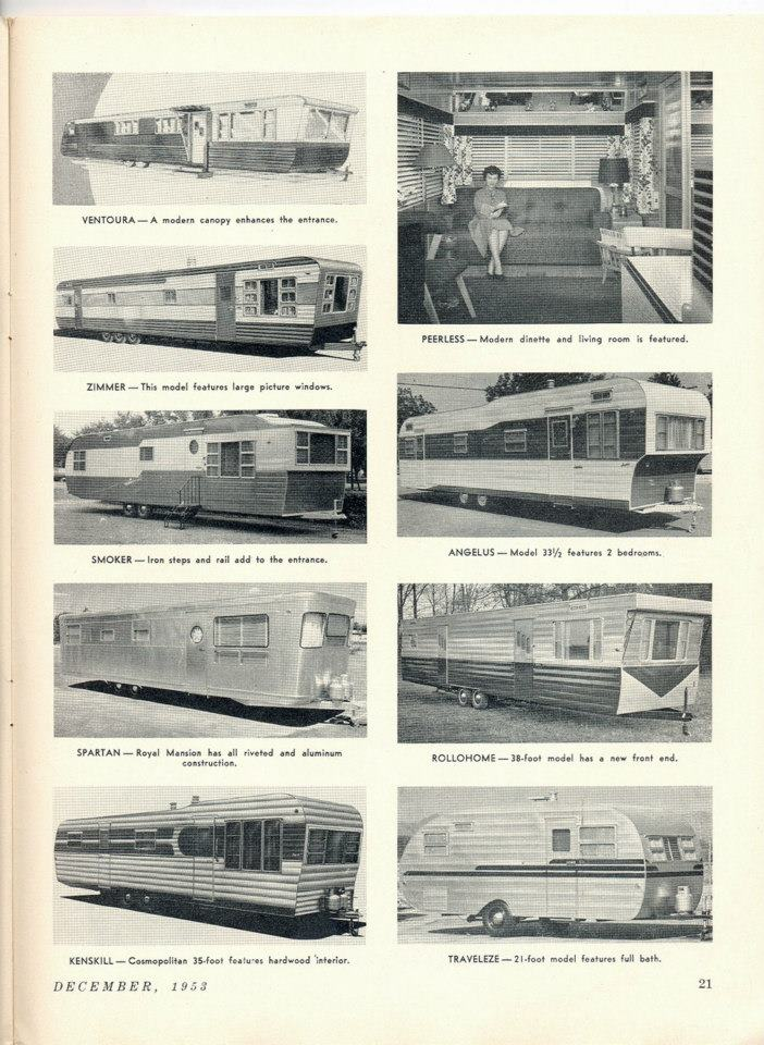 Vintage Mobile Homes of 1953