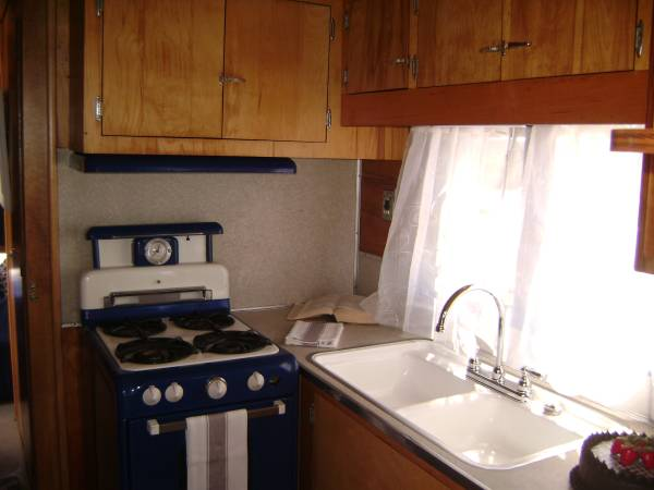 1953 Vagabond Trailer-1953 Vagabond Model 31 Interior - Kitchen