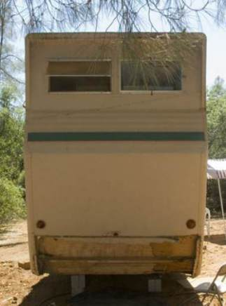 1954 Pacemaker Tri-level Mobile Home Remodel - End of home before remodel