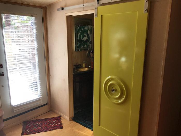 Original 1955 fleetwood custom mobile home - interior door