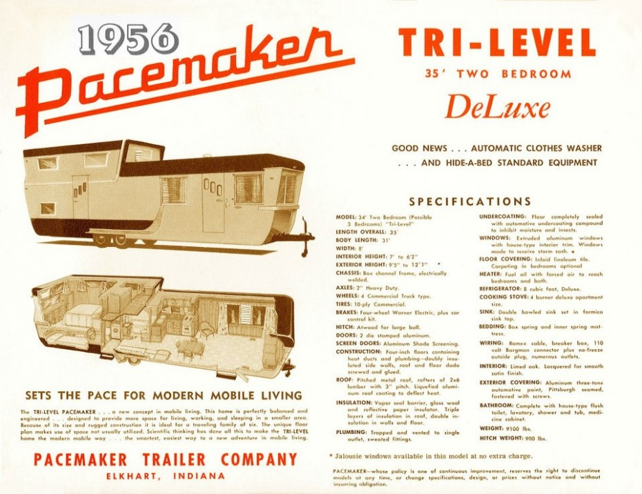1956 Pacemaker Tri-level trailer