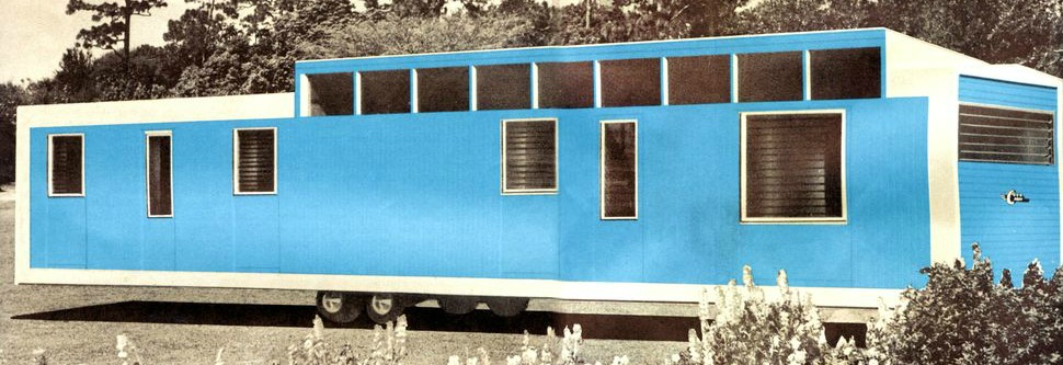 1959 New Moon Mobile Home Living