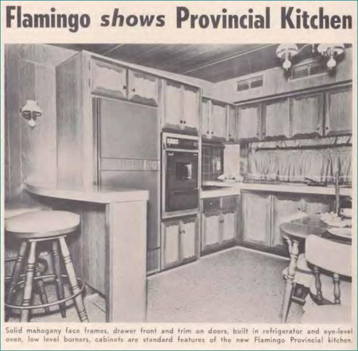 1960 Flamingo Provincial Kitchen