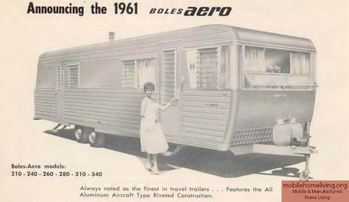 Vintage mobile homes-1961 boles aero