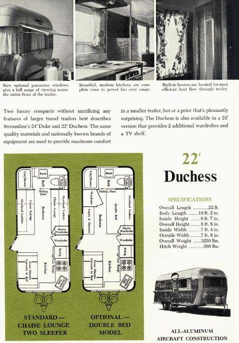 Vintage Camper Restoration - 1962 Streamline Dutchess - vintage ad