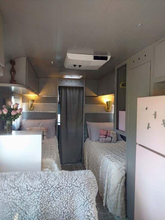 Vintage Camper Restoration - 1962 Streamline Dutchess - Interior After