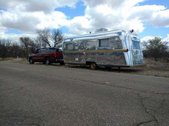 Vintage Camper Restoration - 1962 Streamline Dutchess - being towed 2