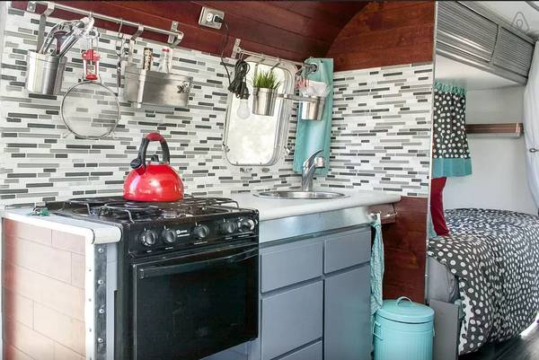 1976 Argosy camper remodel (kitchen area updated)