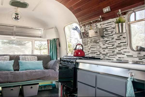 This 48 Argosy Camper Remodel Will Blow Your Mind Mobile Home Classy Airstream Interior Design Painting