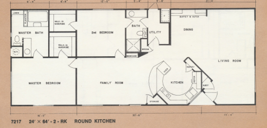 manufactured home floor plans-1976 bendix mobile home floor plan
