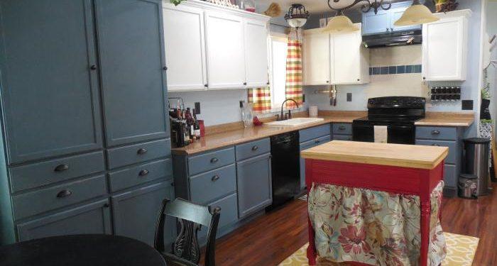 1979 mobile home kitchen makeover - finished