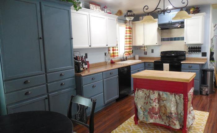 Spectacular  mobile home kitchen makeover finished