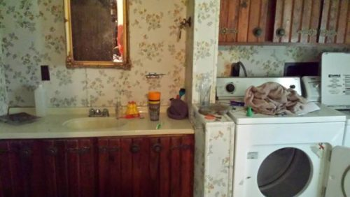 1979 single wide transformation - Original. Masterbath