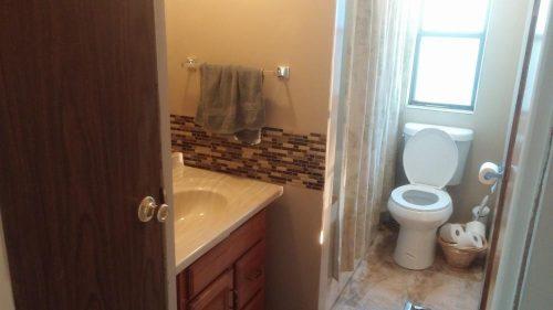 1979 single wide transformation bathroom after 1