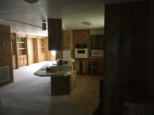 1982 Prestige double wide-kitchen before