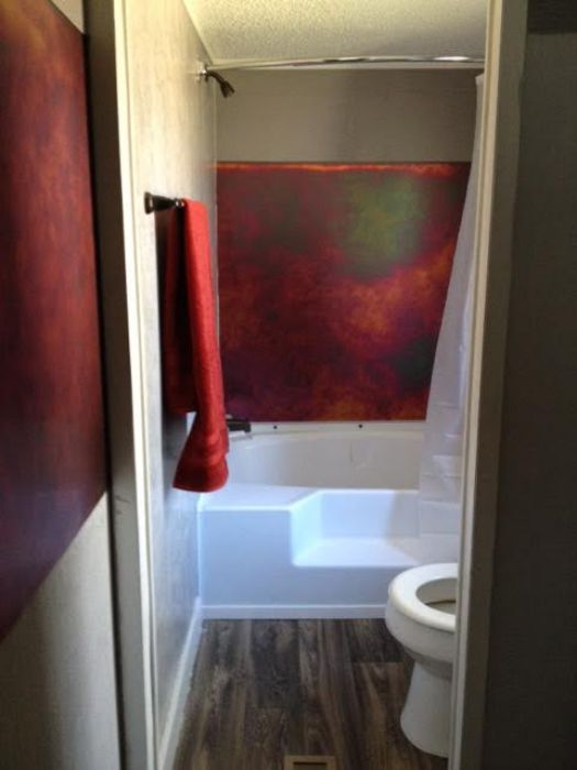 Second bathroom after the 1986 double wide makeover.
