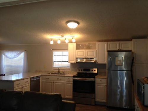 1986 double wide makeover - kitchen after