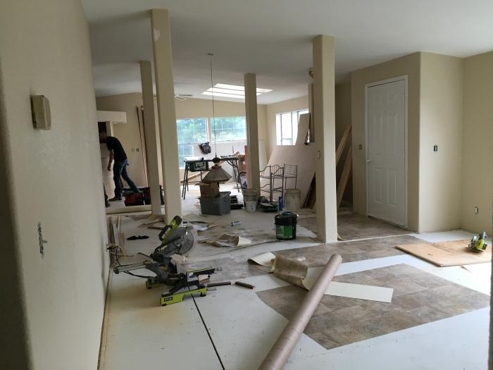 should you buy an older mobile home and remodel it? - 1992 Marlette Double Wide Manufactured Home Remodel - interior getting complete remodel