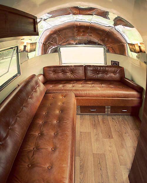 2 brown airstream interior decor